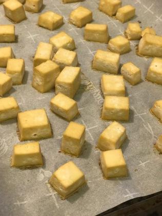 Tofu after baking