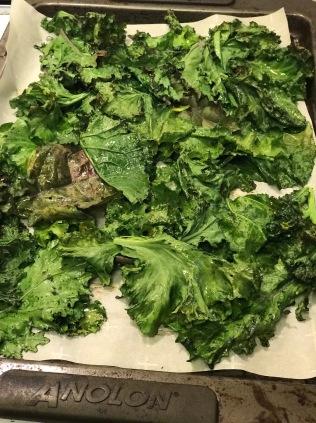 Kale after baking